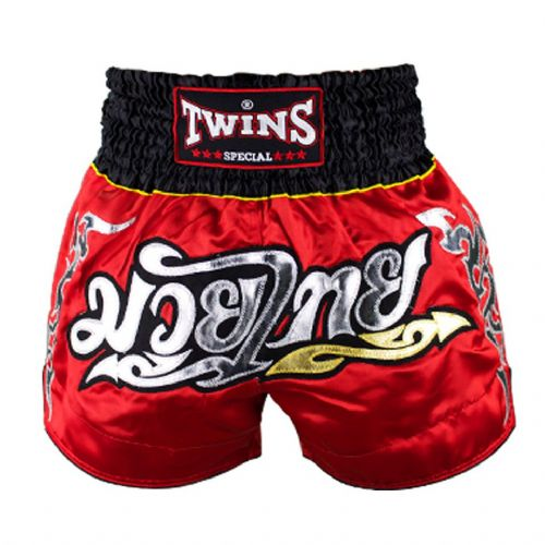 Twins TWS-006 Red/Black Muay Thai Shorts
